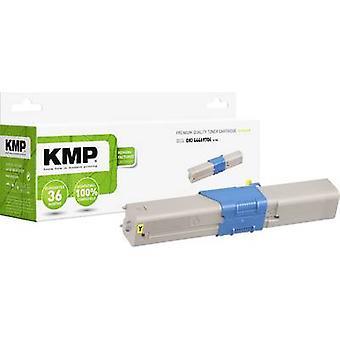 Cartucho de tóner KMP reemplazado OKI 44469704 Compatible Yellow 2000 Sides O-T30