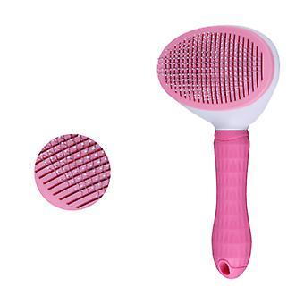 Pet Supplies, One-click Bleach Tie Brush, Dog Cat Brush, Self-cleaning Cat Dog Dead Hair Brush, effektivt fjerner op til 95% af døde hår og fnug, S