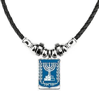 Izraelský štátny znak krajiny náhrdelník