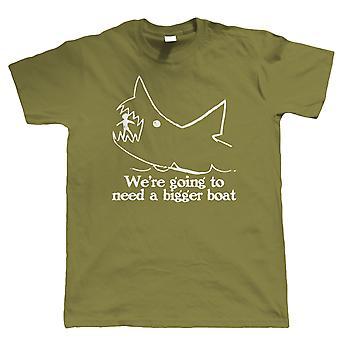 Quints vi ' re vil have brug for en større båd, film T skjorte haj kæber gave ham far