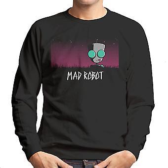 Mad Robot Gir Invader Zim Men's Sweatshirt