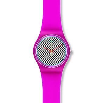 Swatch unisexe rose Fuzz Watch GP142