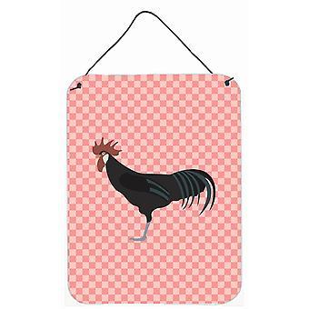 Minorque Ctalalan poulet rose cocher mur ou une porte suspendue imprime