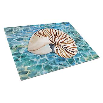 Carolines Treasures  BB5368LCB Sea Shell and Water Glass Cutting Board Large