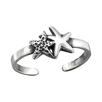 Starfish - 925 Sterling Silver Toe Rings - W27180X