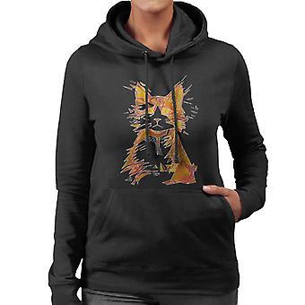 Sweat-shirt à capuche géométrique Cat féminines