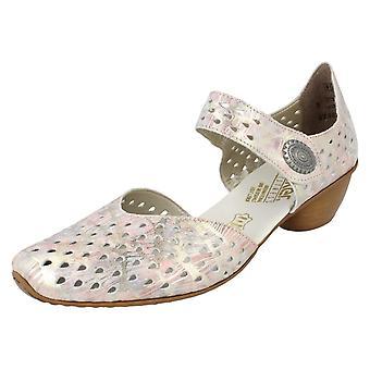 Señoras Rieker gancho y bucle zapatos 43758