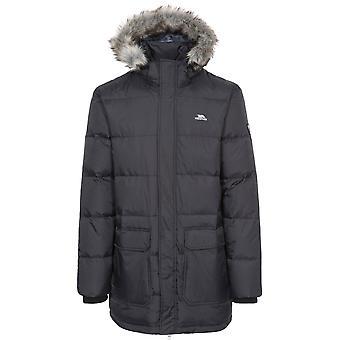 Hausfriedensbruch Mens Baird Polyamid Polyester Zip Off Hood Jacke Daunenmantel