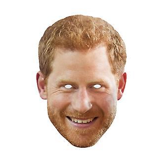 Prins Harry met Beard Single Royal Card Party Fancy Dress Mask