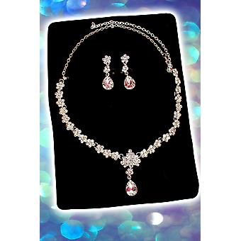 Jewelry and crowns  Set necklace and diamond earrings