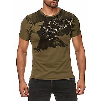 Män sommar T-Shirt Polo Stretch Slim fit Clubwear skjorta Flying Eagle