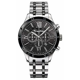 Thomas Sabo Mens cadran noir en acier inoxydable bracelet WA0139-222-203-43