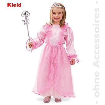 Prinsessen kostume prinsesse kjole lyserød børn dronning barn kostume