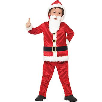 Costume de Santa de luxe pour enfants costumes pour enfants