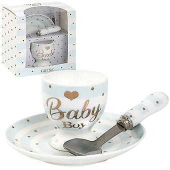 Lesser Pavey Mad Dots Baby Egg Cup/Plate Gift Set