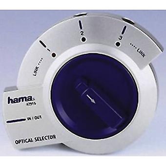 Hama 42916 3 Anschlüsse Toslink Switch bidirektionalen Betrieb