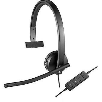 PC headset USB Mono, Corded Logitech H570e Over-the-ear Black