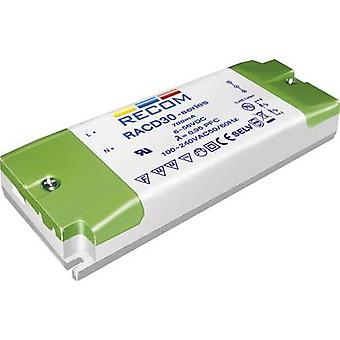 Recom Lighting RACD30-700 LED driver Constant current 30 W 0.7 A 10 - 43 Vdc not dimmable, PFC circuit, Surge protection, Approved for use on furniture