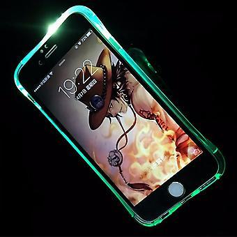 Móvel caso LED Licht ligar para telefone Apple iPhone 5 / 5s / Blau SE
