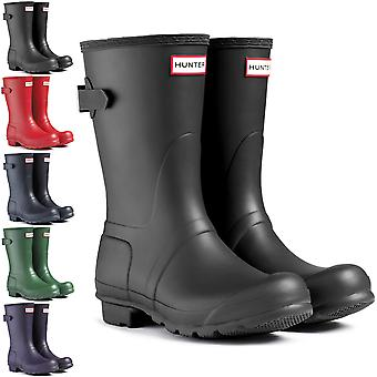 Womens Hunter Original Adjustable Back Short Wellies Festival Rain Boots