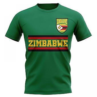 Simbabwe Kern Fußball Land T-Shirt (grün)