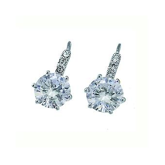 Oliver Weber Post Earring True Rhodium Crystal