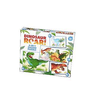 Ryk dinozaurów! Puzzle 4-w-1