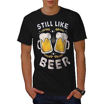 Like beer funy Men BlackT-shirt | Wellcoda