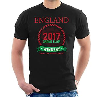 Rugby England 2017 Grand Slam Winners Men's T-Shirt