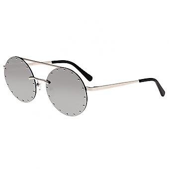 Bertha Harlow Polarized Sunglasses - Silver/Silver