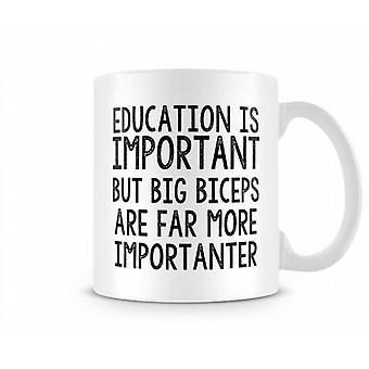 Big Biceps More Importanter Mug