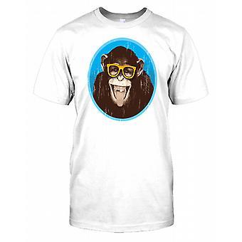 Affe mit Brille und lächelnd - lustige Kinder T Shirt