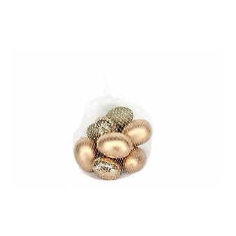Gisela Graham Gold Glittered Easter Egg Decorations