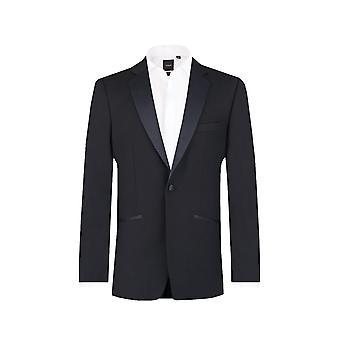 Dobell Mens Navy Blue Suit Jacket Regular Fit Notch Lapel