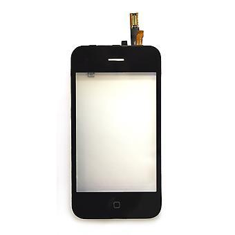 アップル iPhone の 3 G 黒互換性デジタイザー タッチ スクリーンします。