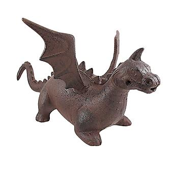 Arrêt de porte en fonte Dragon Statue antique Finish