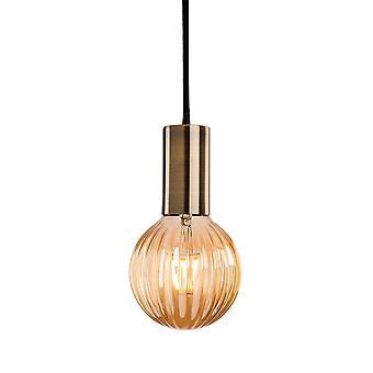 Firstlight-1 luce soffitto pendente in ottone antico-4933