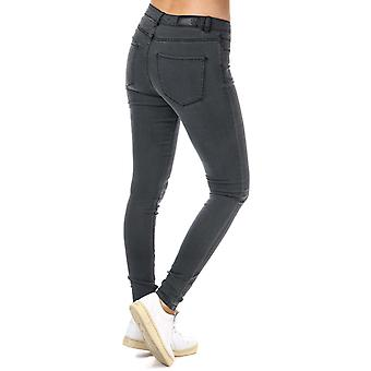 Womens Vero Moda Julia Flex It Slim Jeggings In Dark Grey Denim