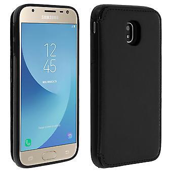 Samsung Galaxy J3 2017 Shockproof Case, Card Holder Wallet, Forcell, Black