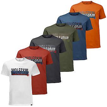 Jack Wolfskin Hombres Eslogan T Camiseta