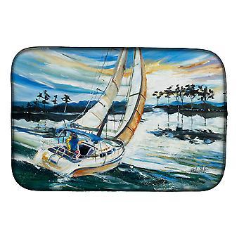 Carolines trea Sures JMK1055DDM segel båtar på Lake Martin Dish torkning matta
