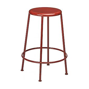 Fusion Living Red Metal Distressed Artisan Bar Stolc