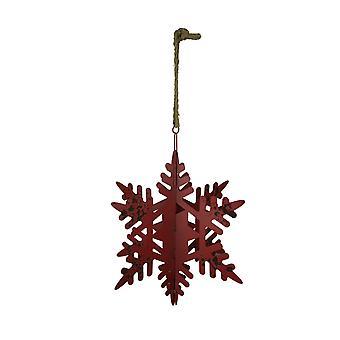 Rustic Metal Giant Hanging Snowflake Ornament