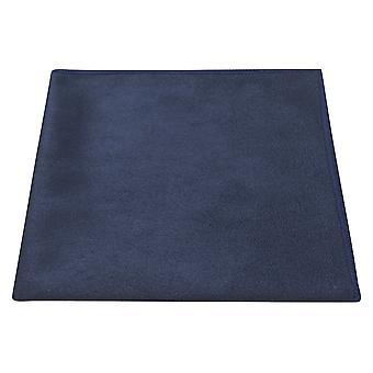 Lujo azul marino ante bolsillo cuadrado, pañuelo