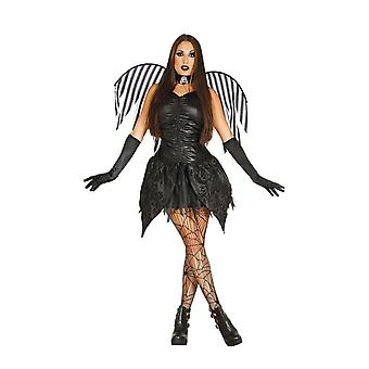 Womens Dark Fairy Halloween maskeraddräkter kostym