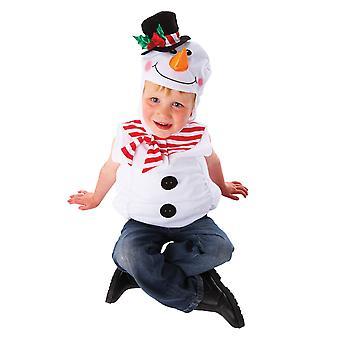 Boys Christmas Snowman Fancy Dress Costume (Age 3-5)