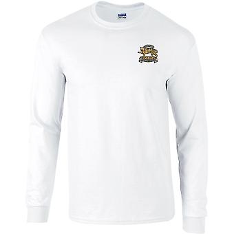Leicestershire regiment-lisensiert britiske hæren brodert langermet T-skjorte