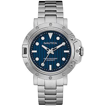 nautica- nst 800 gent's Japanese Quartz Analog Woman Watch with NAD16005G Stainless Steel Bracelet