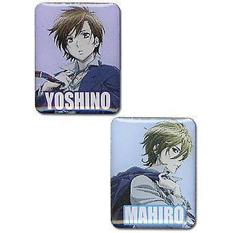 Pin Set - Blast of Tempest - New Mahiro & Yoshino (Set of 2) Licensed ge50102