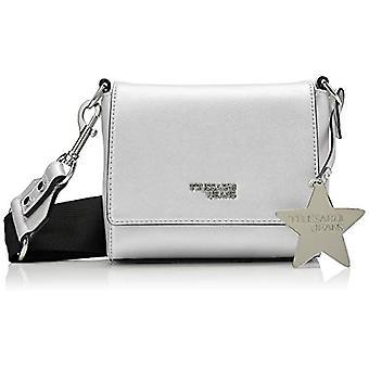 Trussardi Jeans T-Easy Fighter Charm Star Logo Silver Strap Bag 16x14x6 cm (W x H x L)